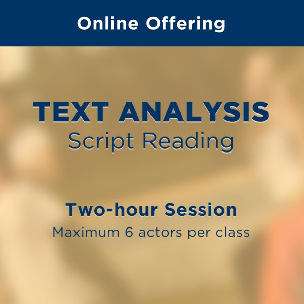 On Set Coaching - Online Courses - Text Analysis